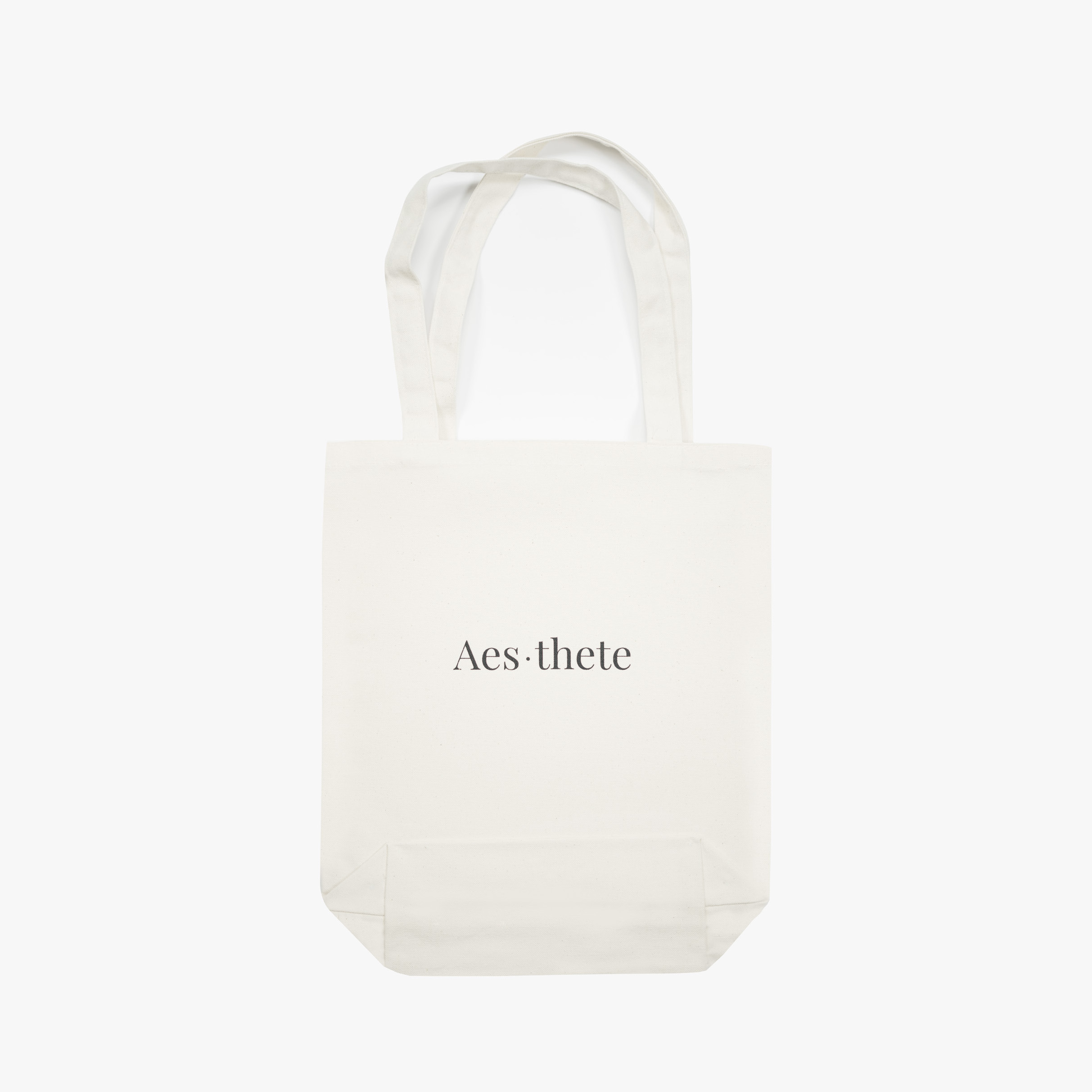 Tote bag cotton organic aes•thete sitting man