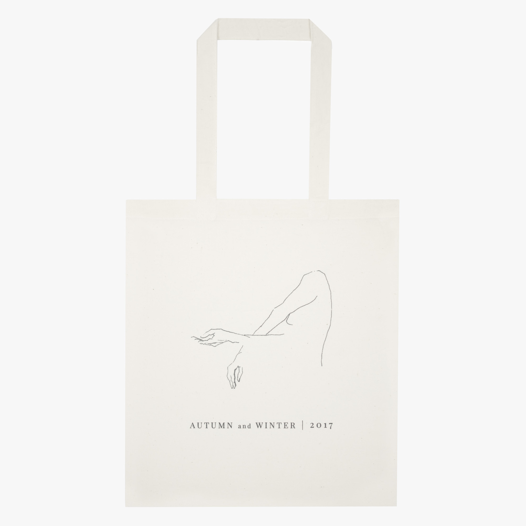 Thin cotton tote bag premium contour drawing
