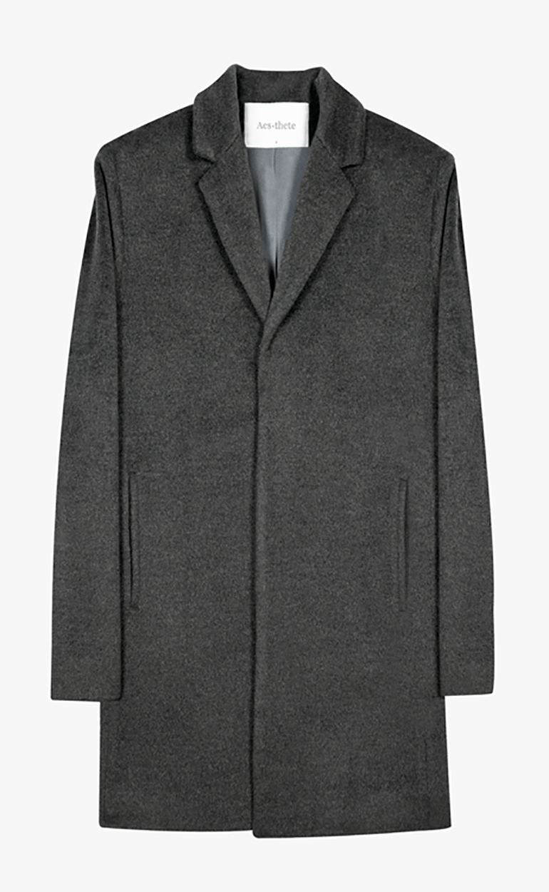 Angora Cashmere Silk Overcoat Slim Luxury Quality