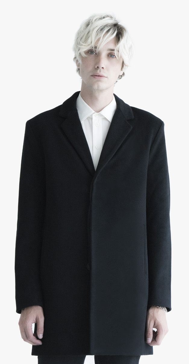 Overcoat luxury quality cashmere silk silhouette