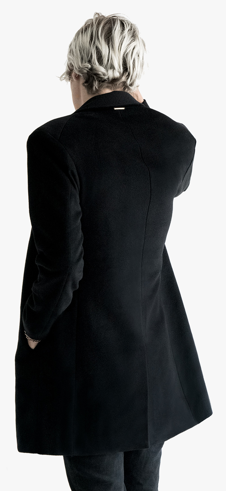 Detail Model Original Pure Cashmere Coat Authentic Morals