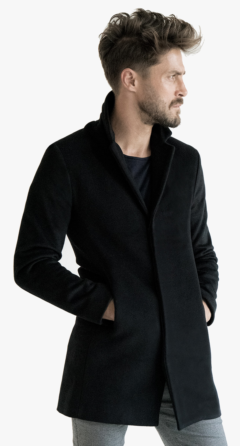 Cashmere Silk Coat Jacket Slim Couture Relaxed Fitted