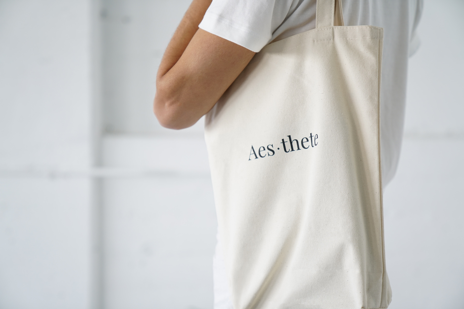 Tote Aesthetic Aesthetics Organic Cotton Thick Quality Natural