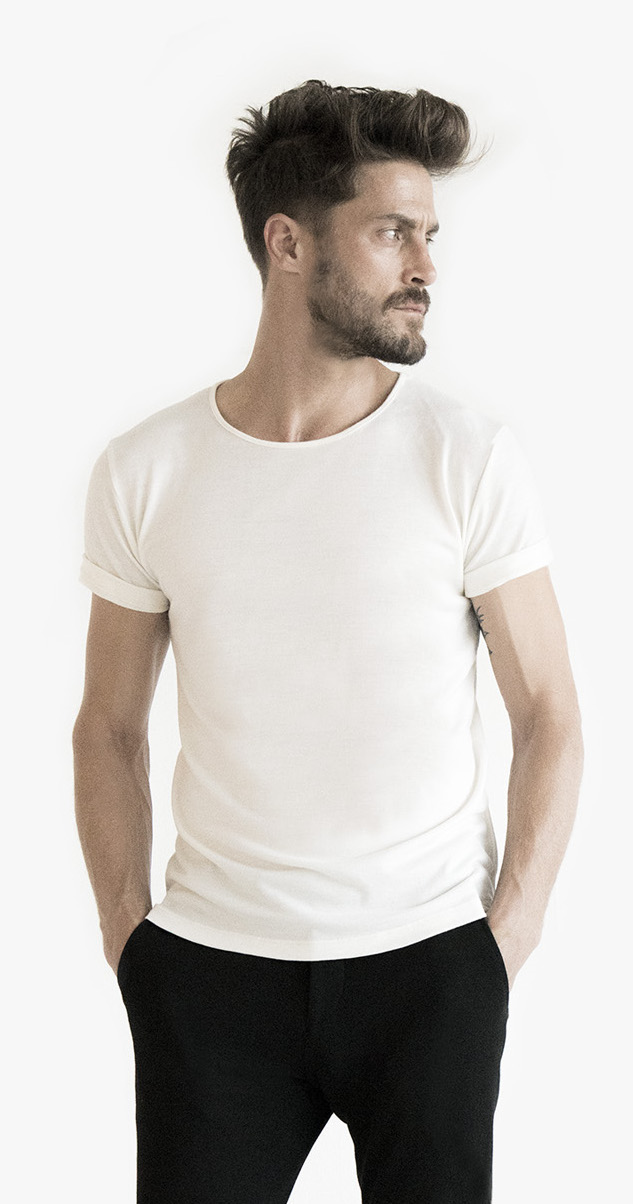 Jacob Grey, white, tee, wool, luxury, longevity, quality